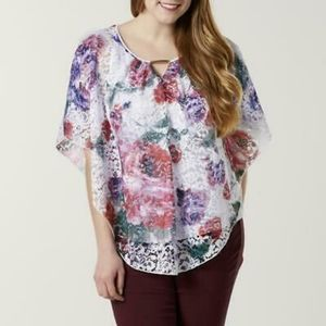 Simply Emma Floral Lace Embellished Blouse
